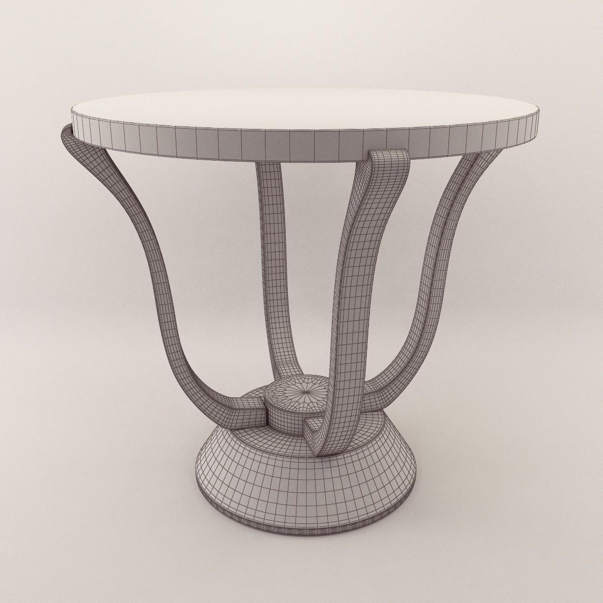 Art Deco Side Table 3d Realistic Model Artium3d