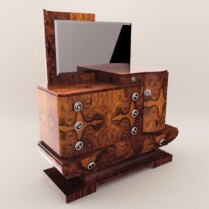 3d model Sideboard with a mirror – Art Deco 1930