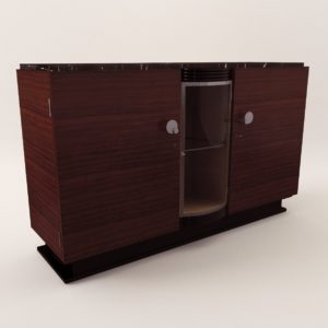 3d model Sideboard with a bar – Art Deco 1920