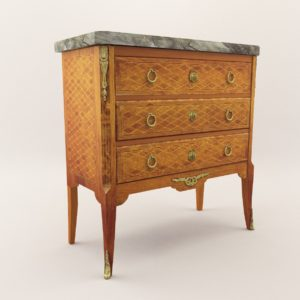 3d model Neoclassical commode – Around 1840