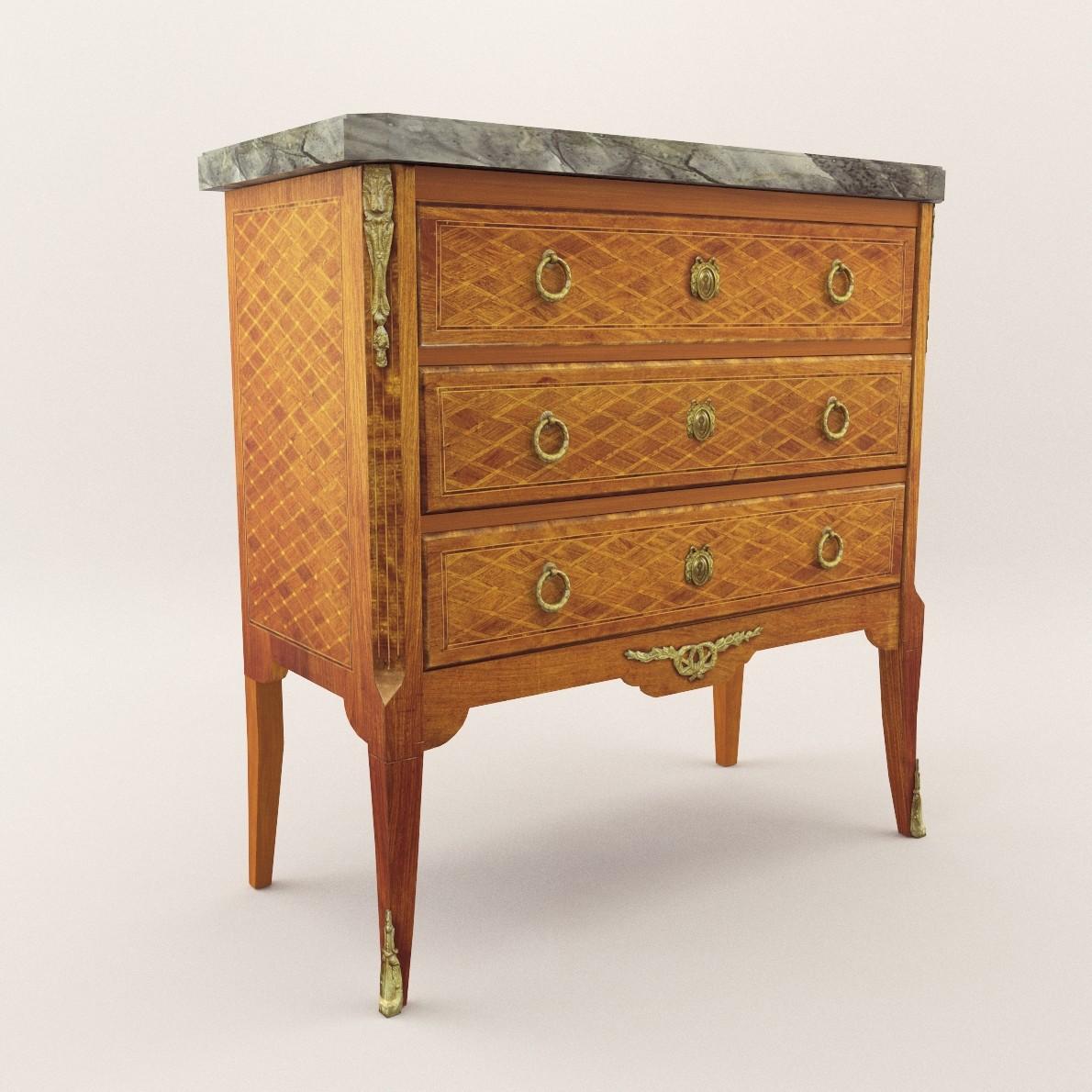 neoclassical commode 3d realistic model artium3d. Black Bedroom Furniture Sets. Home Design Ideas