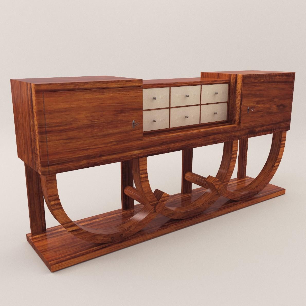 Art Deco Sideboard 3d Realistic Model Artium3d