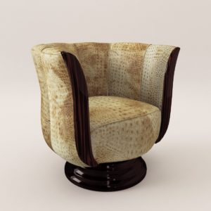 3d model rotaring fauteuil – Art Deco style