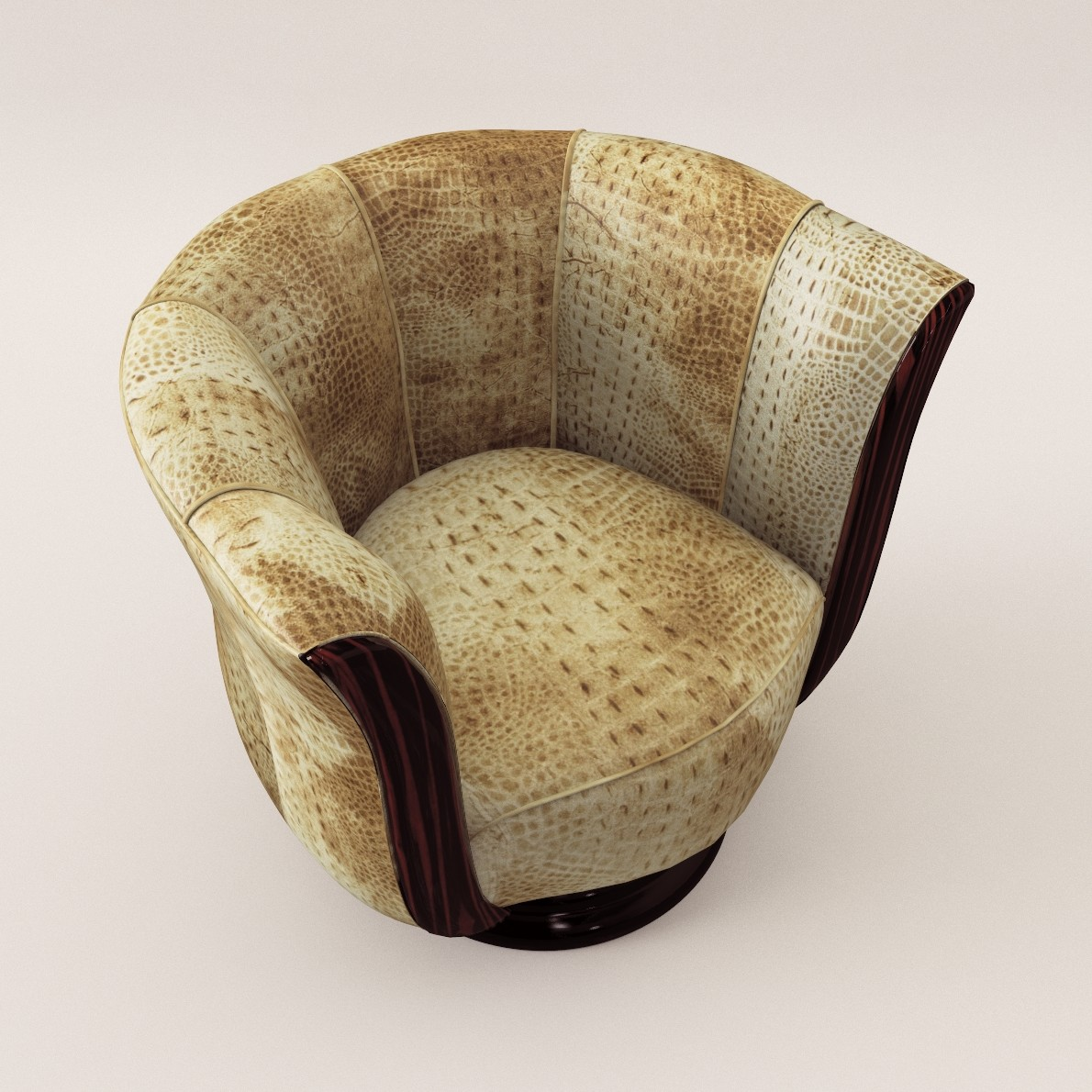 art deco rotaring fauteuil 3d realistic model artium3d. Black Bedroom Furniture Sets. Home Design Ideas
