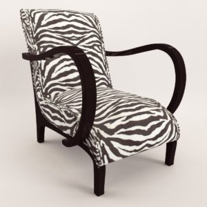 3d model Armchair – Art Deco 1940