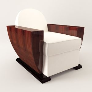 3d model Armchair – Art Deco style