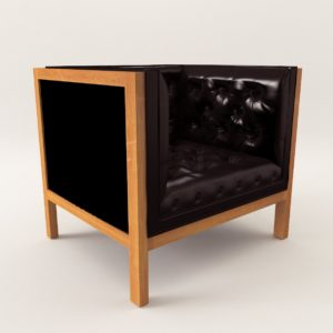 3d model Armchair – Art Deco style