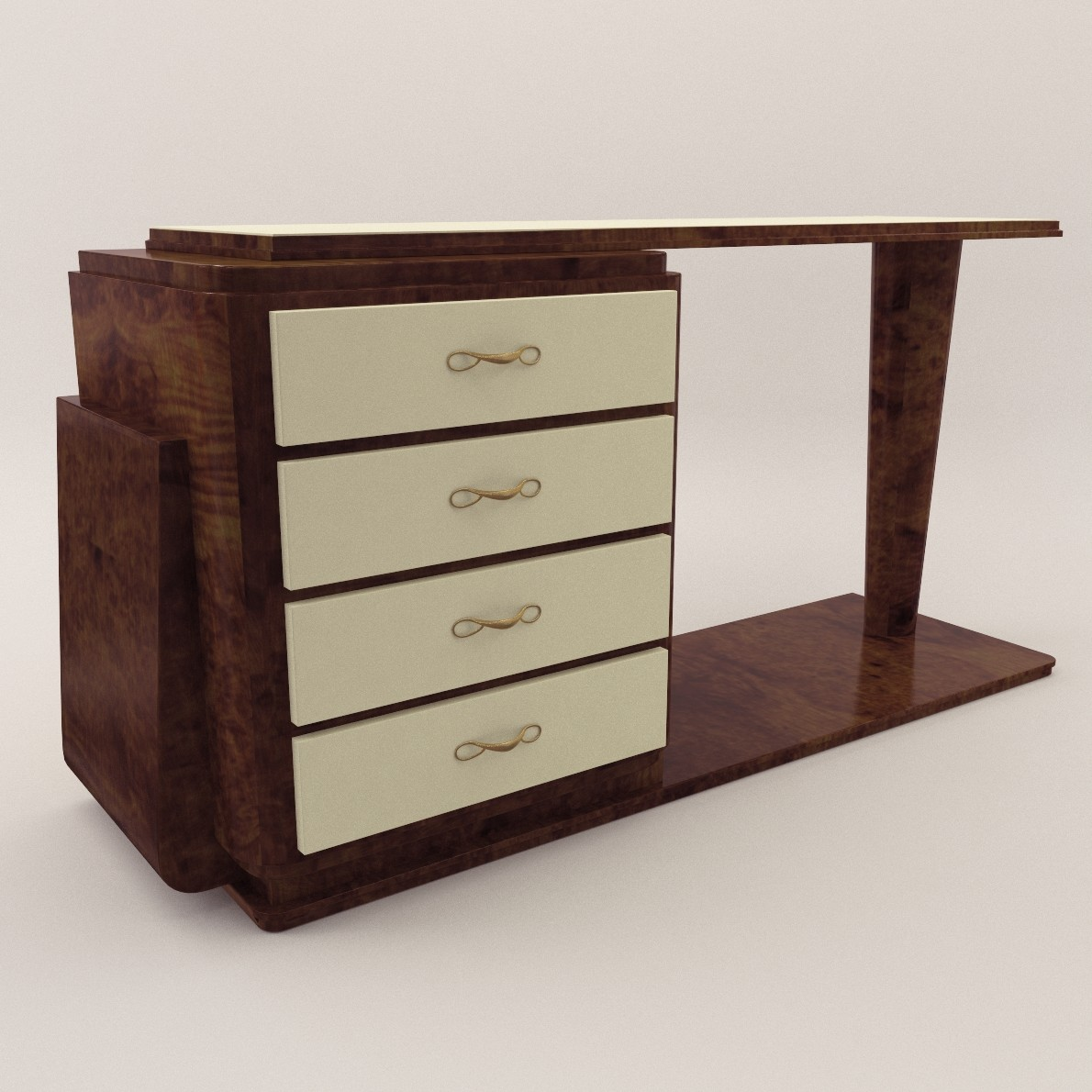 Art deco console table 3d realistic model artium3d art deco console table geotapseo Image collections