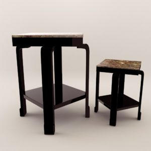 3d model Small Table – Art Deco 1930