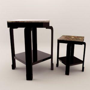3d model Small Table – Art Deco 1930