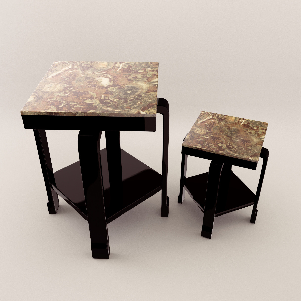 art deco small table 3d realistic model artium3d