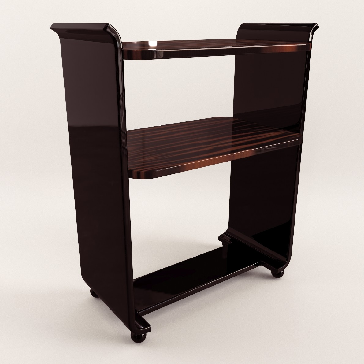 art deco small etagere 3d realistic model artium3d. Black Bedroom Furniture Sets. Home Design Ideas