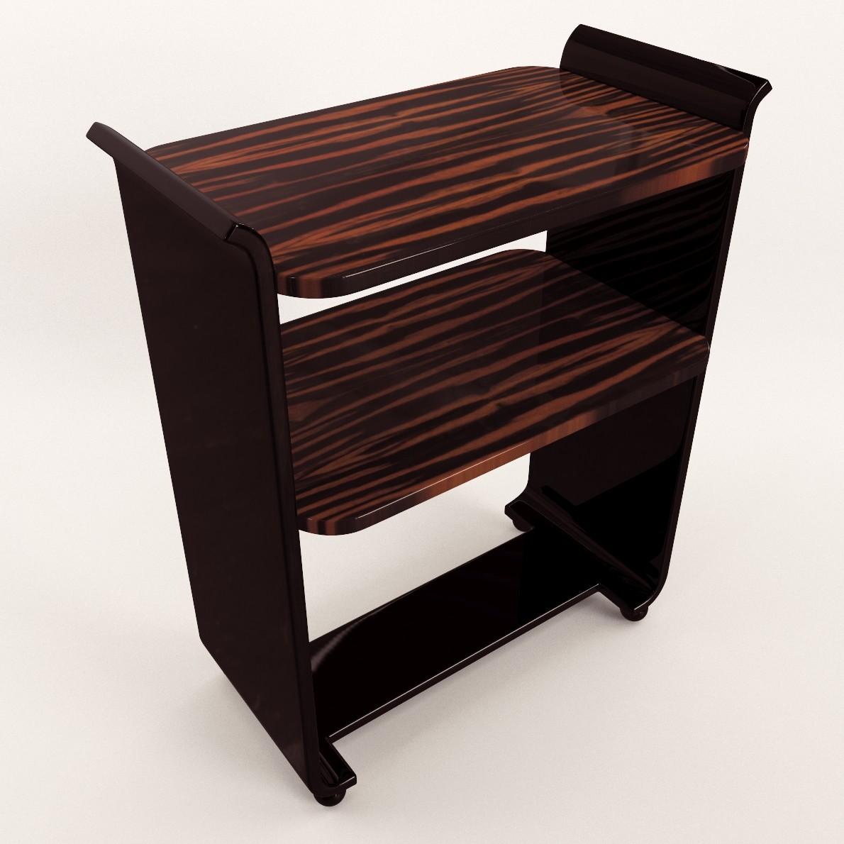 art deco small etagere 3d realistic model artium3d. Black Bedroom Furniture Sets. Home Design Ideas