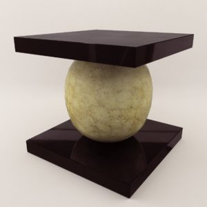 3d model Coffee table – Art Deco Style, Jean Dunant style