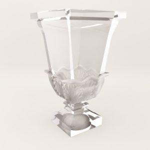 3d model Vase Bacarat – 20. century