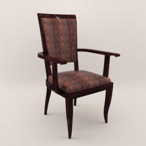 3d model Armchair – Art Deco 1930