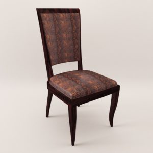 3d model Chair – Art Deco 1930