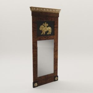 3d model Biedermeier mirror – Berlin 1810