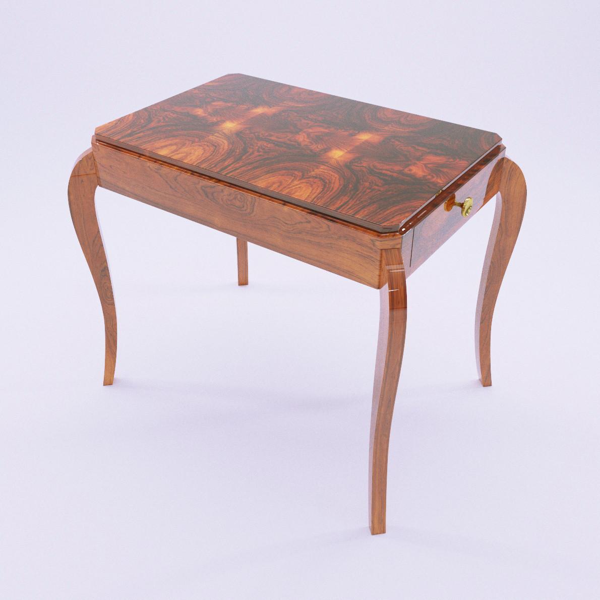 Art deco salon table 3d realistic model artium3d for Model deco salon