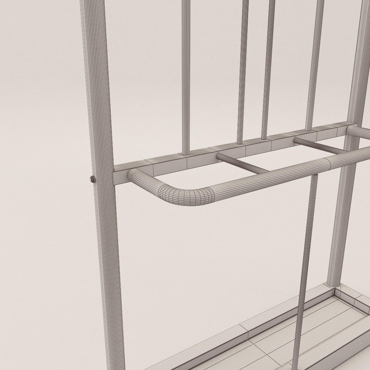 Art Deco Clothes Rack 3d Realistic Model Artium3d