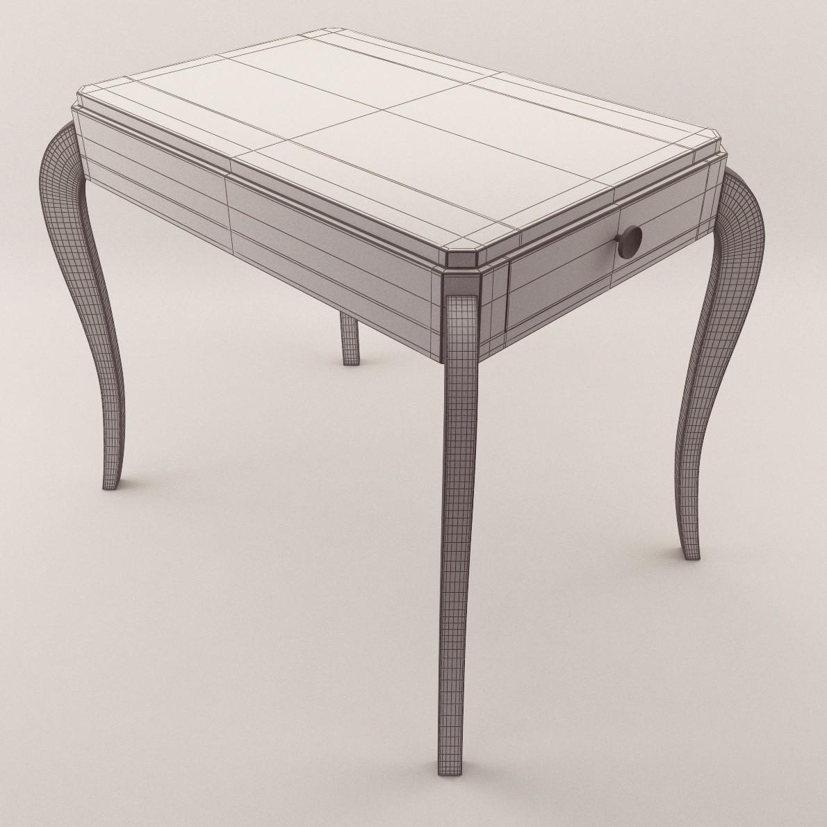 art deco salon table 3d realistic model artium3d. Black Bedroom Furniture Sets. Home Design Ideas