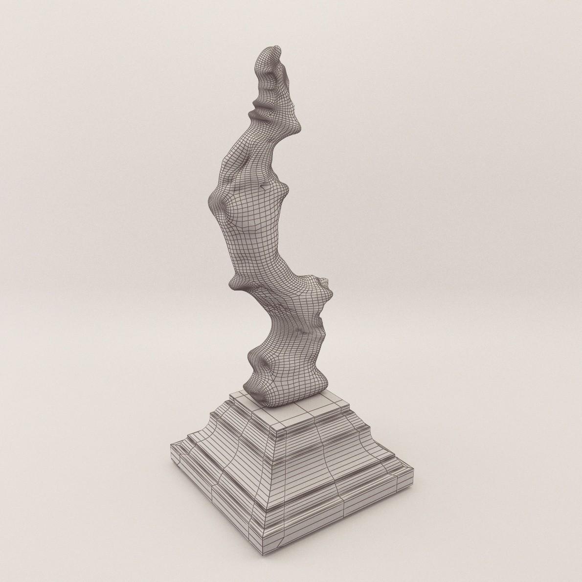 Sculpture Coral 3d Realistic Model Artium3d