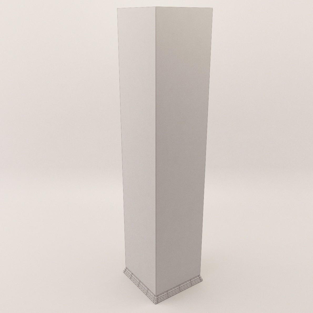 Art Deco Column 3d Realistic Model Artium3d