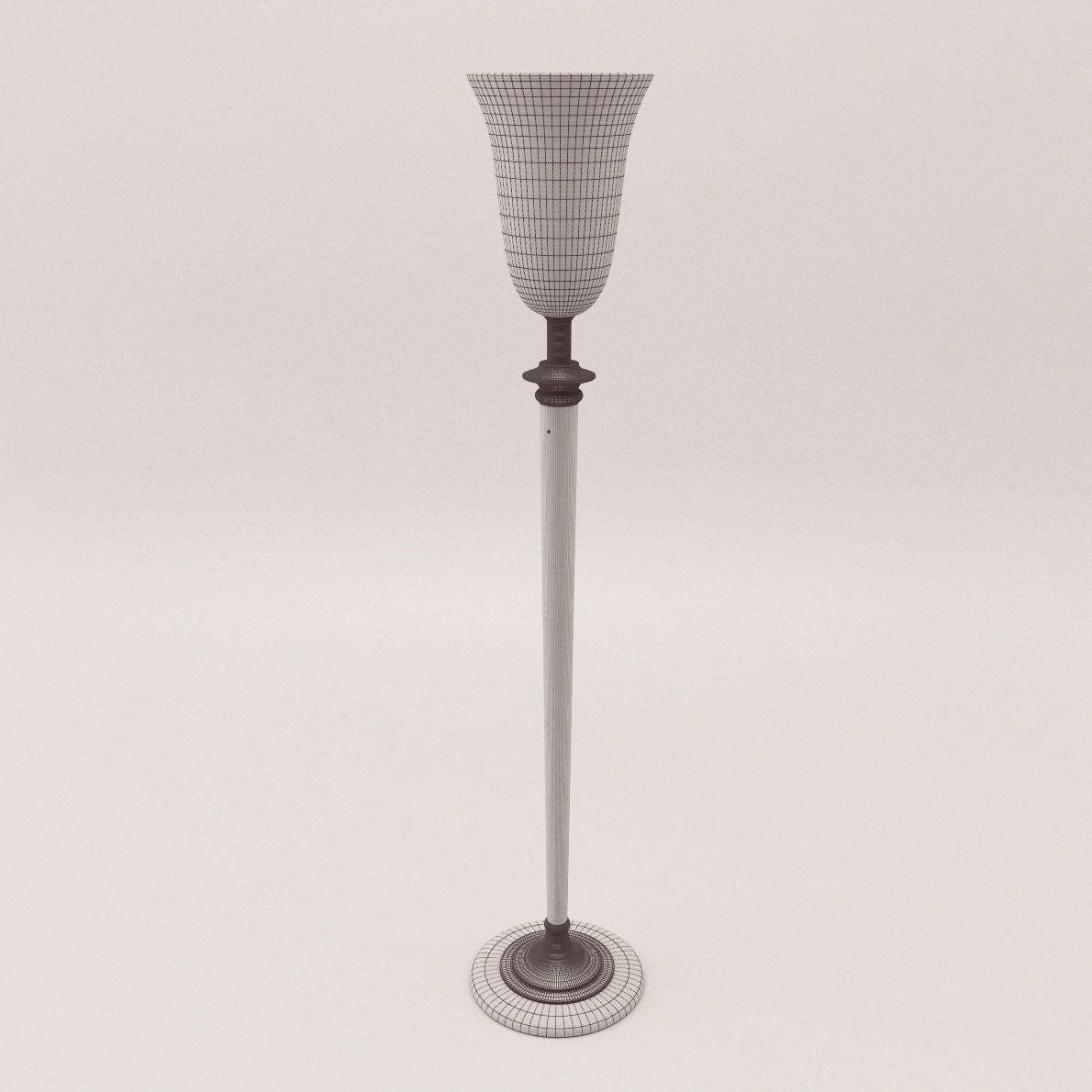 """Art Deco stand lamp ,,Mazda"""" - 3D Realistic Model - Artium3D"""