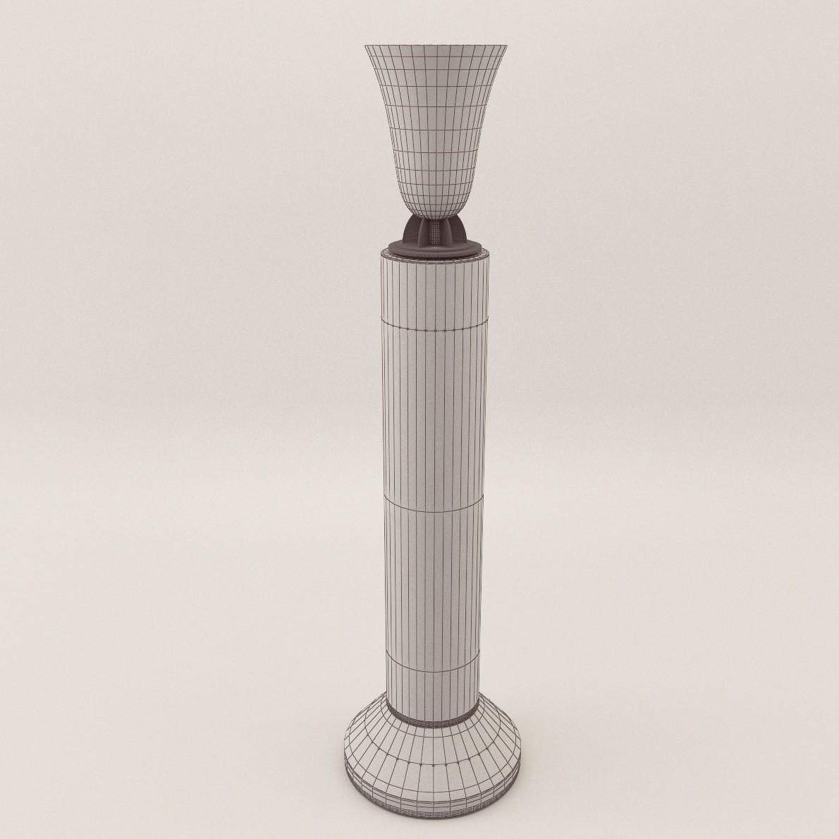 Art Deco Stand Lamp 3d Realistic Model Artium3d