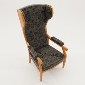 3d model biedermeier wing armchair – South Germany 1880