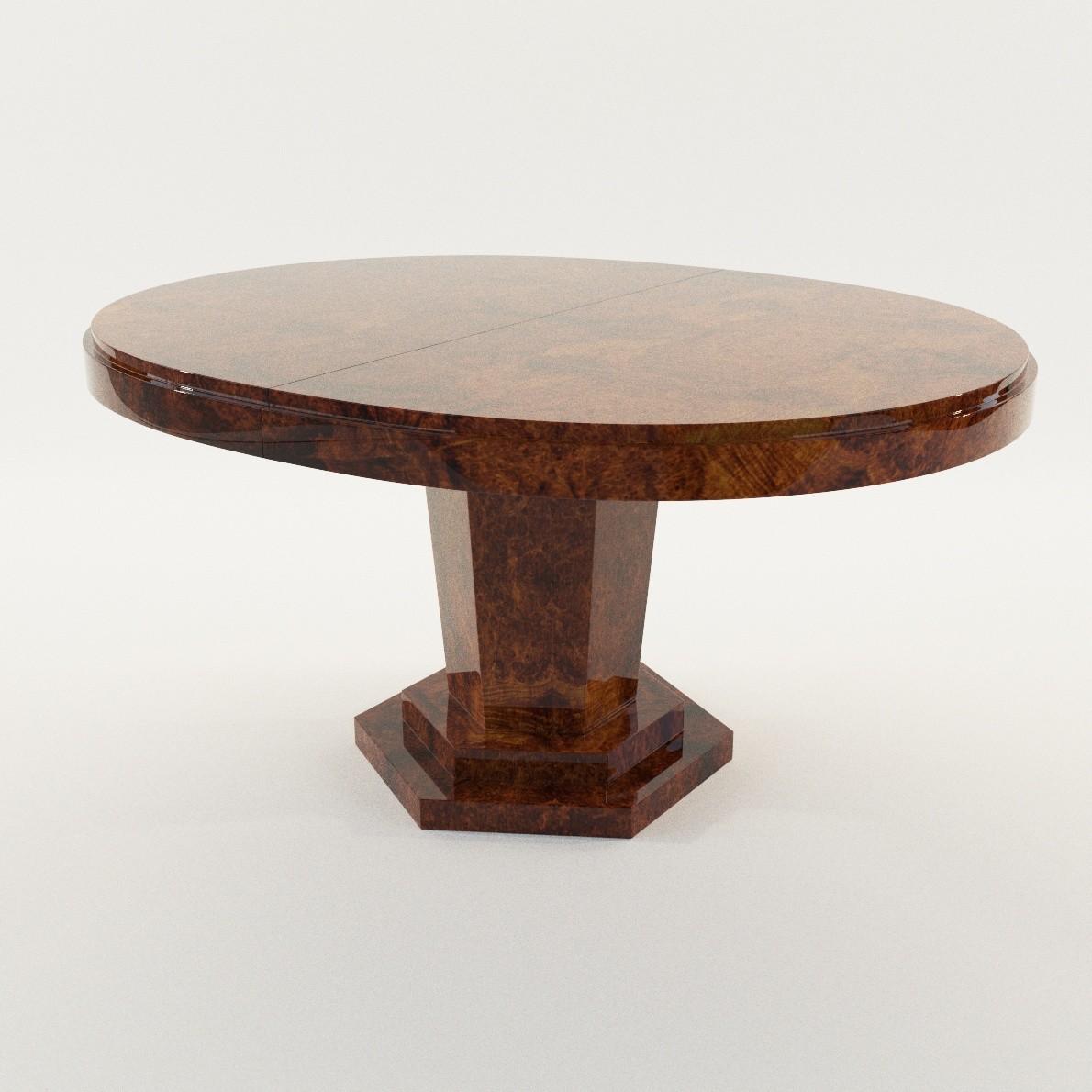 Art Deco Dining Table 3d Realistic Model Artium3d