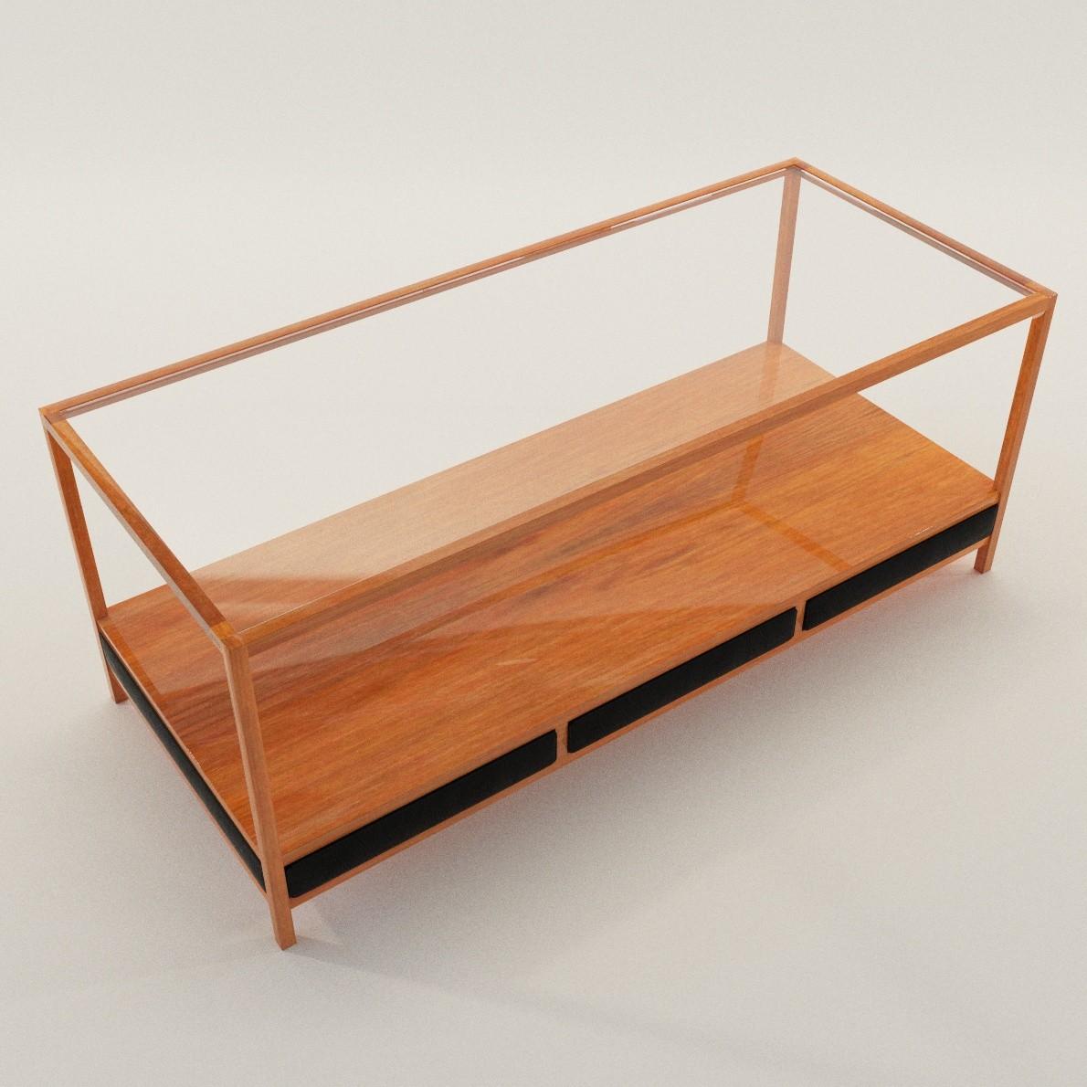 Coach table new design 3d realistic model artium3d for 3d table design