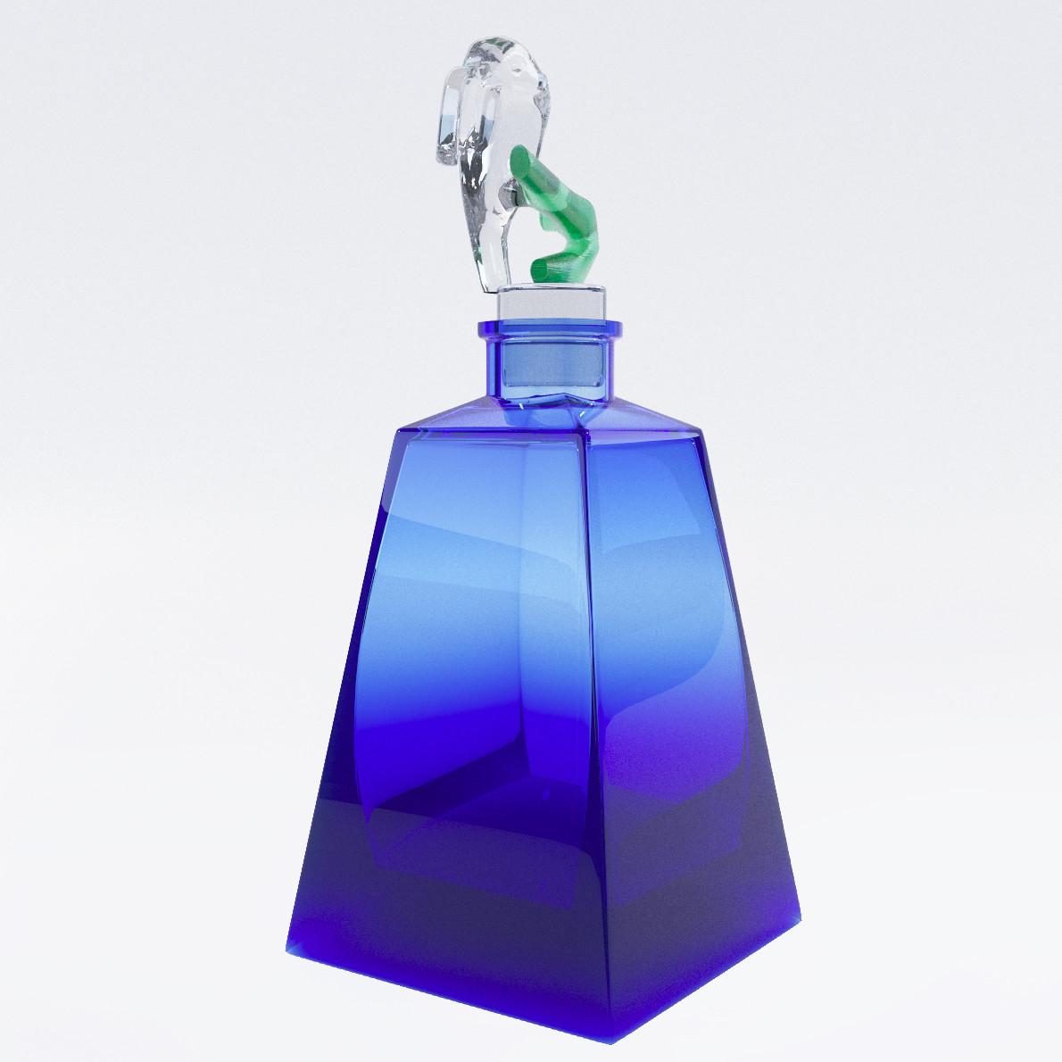 Bottle For Perfume 3d Realistic Model Artium3d