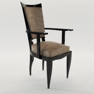 3d model Chair – Art Deco style