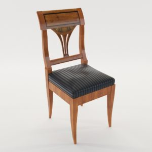 3d model Biedermeier chair – South Germany 1820