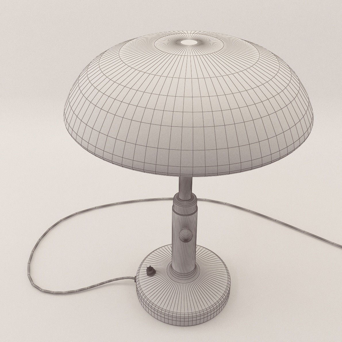 Art Deco Table Lamp 3d Realistic Model Artium3d