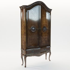 3d model Baroque cupboard – Germany 1760