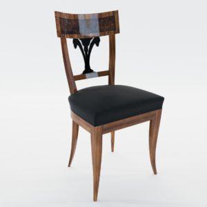 3d model Biedermeier chair with black lacker ornament – South Germany, Munich 1815