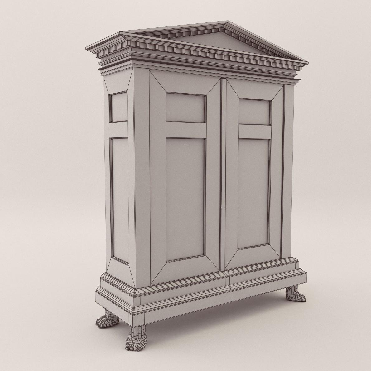 Biedermeier cupboard - Georg Britsch - 3D Realistic Model ...