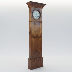 3d model Biedermeier long case clock – North Germany 1820