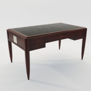3d model Writing desk – Art Deco 1920, France