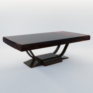 3d model Dining table – Art Deco 1920, France