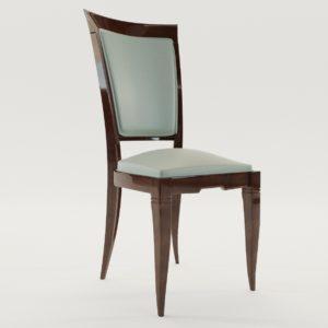 3d model Chair – Art Deco 1920, France
