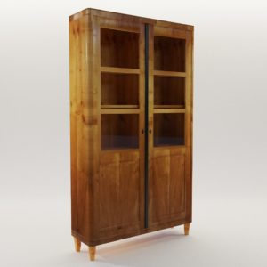 3d model Biedermeier bookcase – Munich 1830, Manufactory by Melchior Franck