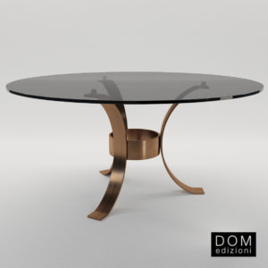 3d model Round dinner table Massimo – Design by Domenico Mula (Dom Edizioni)