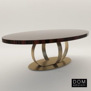 3d model Elliptic dinner table Andrew – Design by Domenico Mula (Dom Edizioni)