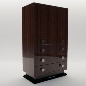 3d model Bar commode – Art Deco style