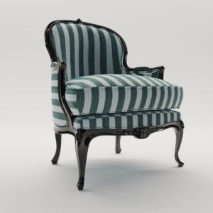 3d model Baroque armchair – around 1900