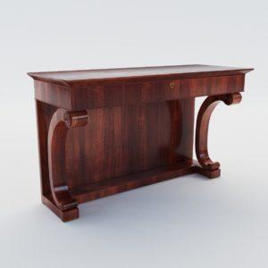 3d model Biedermeier console table – Vienna 1830