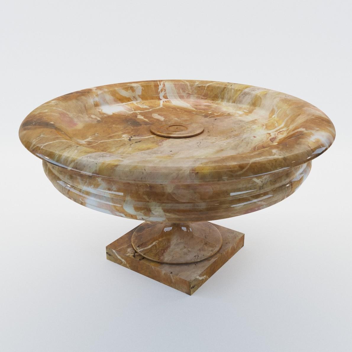 Sculpture Marble Dish 3d Realistic Model Artium3d